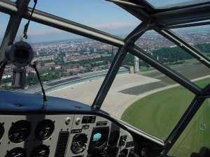 Coming in to land at Berlin Tempelhof