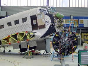 Maintenance work on the Junkers